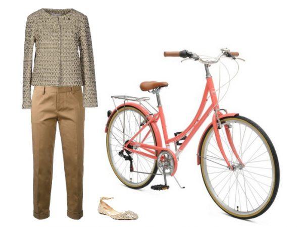 Outfit per andare in bicicletta in stile anni '50