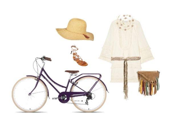 Outfit per andare in bicicletta in stile boho