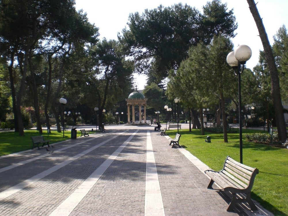 La pista ciclabile del parco della Villa Comunale a Lecce