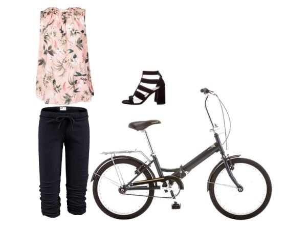 Outfit per andare in bicicletta in stile sporty chic
